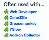 Screenshot of recommendations