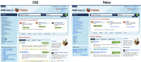 Comparison of Homepages