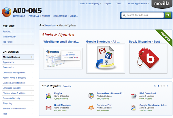 Screenshot of add-on listing