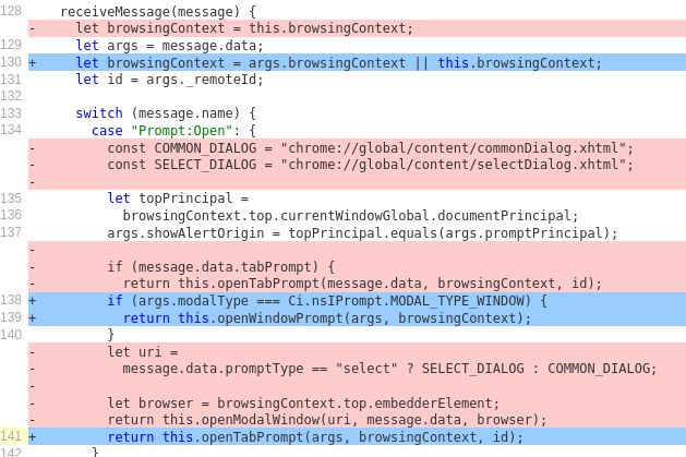 Handling of untrusted message.data before and after fixing CVE-2019-11708.