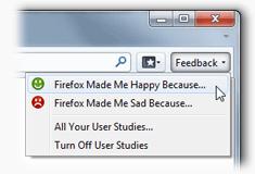 Die Feedback-Schaltfläche in den Beta-Versionen von Firefox 4