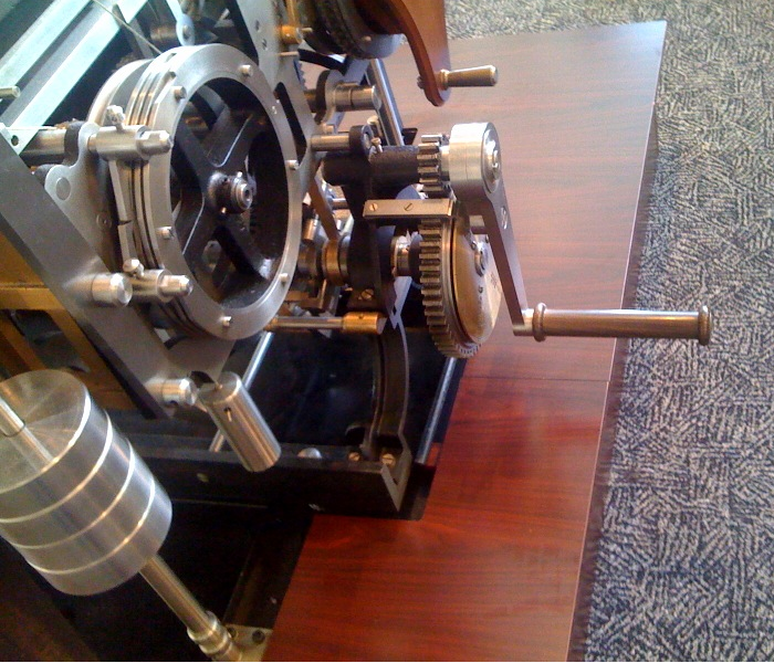 Debug crank for Charle's Babbage's Difference Engine #2.