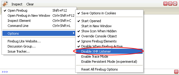 "New ""Disable XHR Listener"" option"