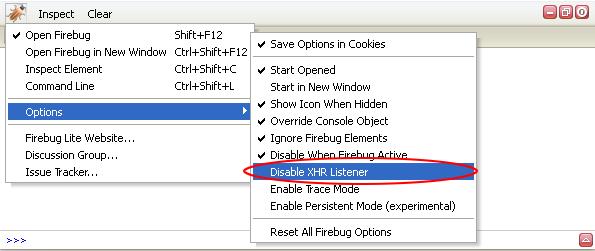 "New ""Disable XHR Listener"" option"