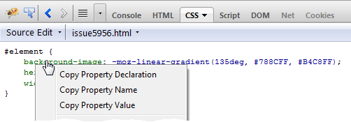 CSS Copy Actions