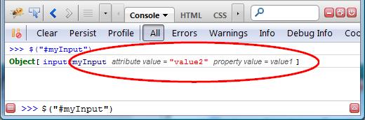 Input element value