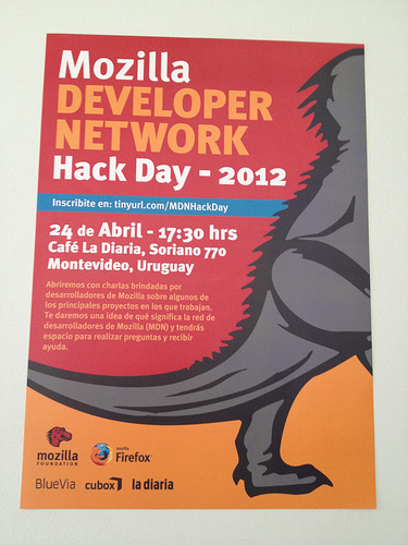 MDN Hack Day 2012 - Montevideo Poster