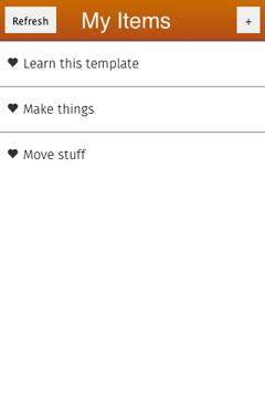 List detail in Mortar (screenshot)