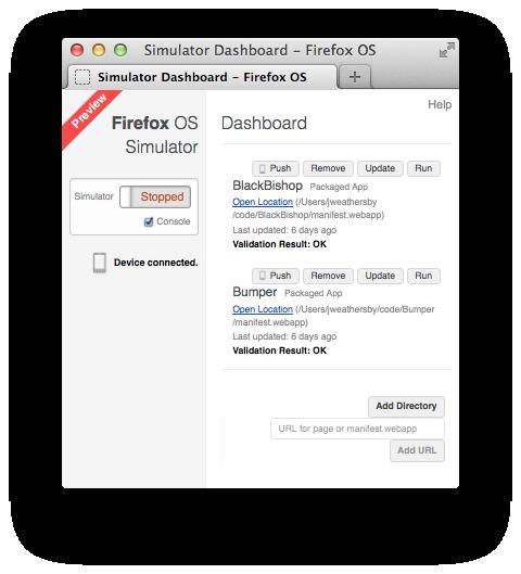 Firefox OS Simulator on a Mac