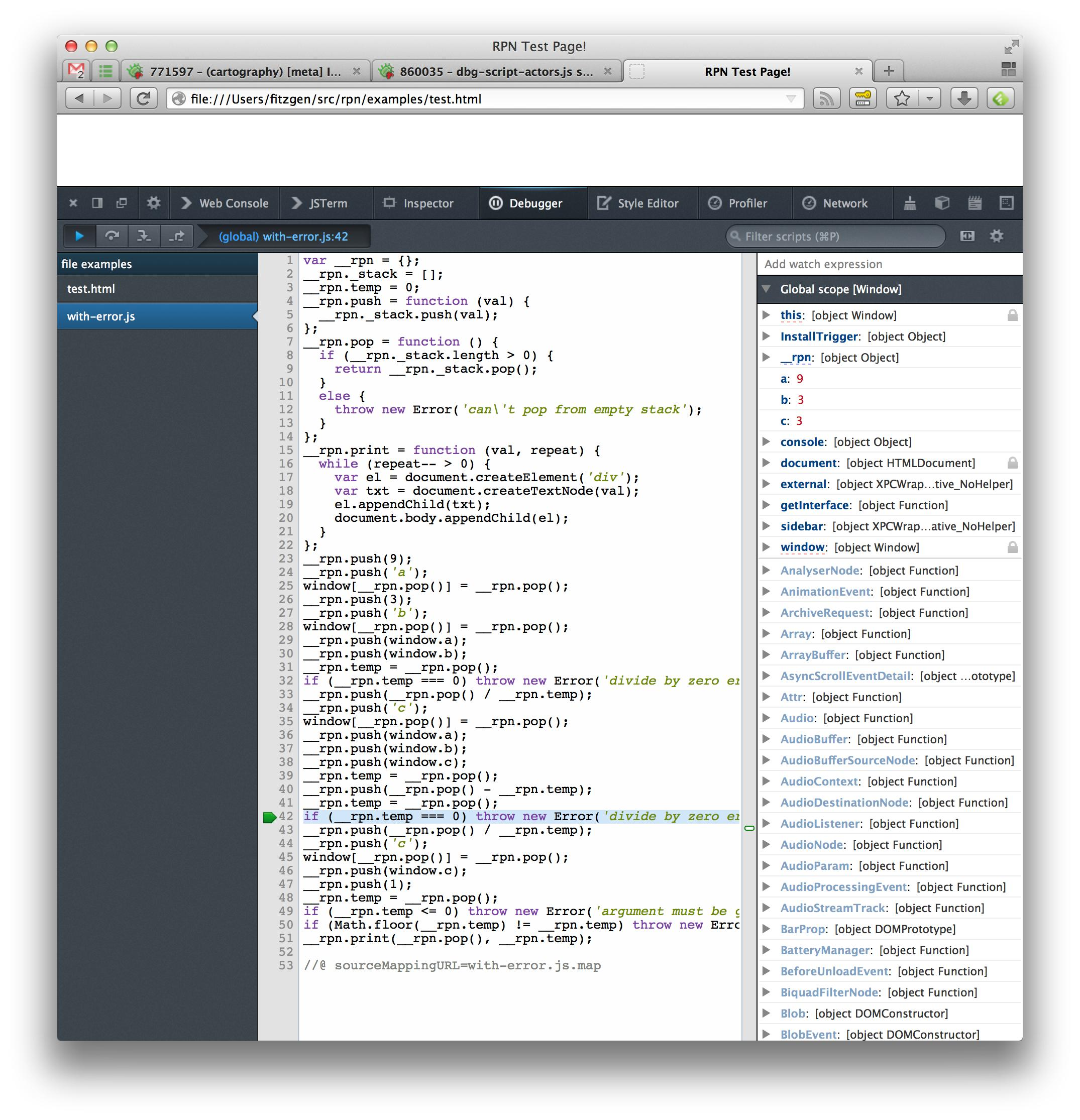 how to use debugger in javascript