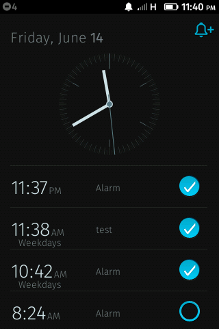 There is no way to see if there are more alarms above or below these four