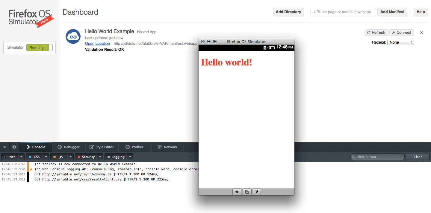 Using Jsfiddle To Prototype Firefox Os Apps Mozilla Hacks The