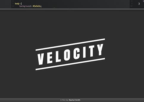Velocity.js CodePen Demo