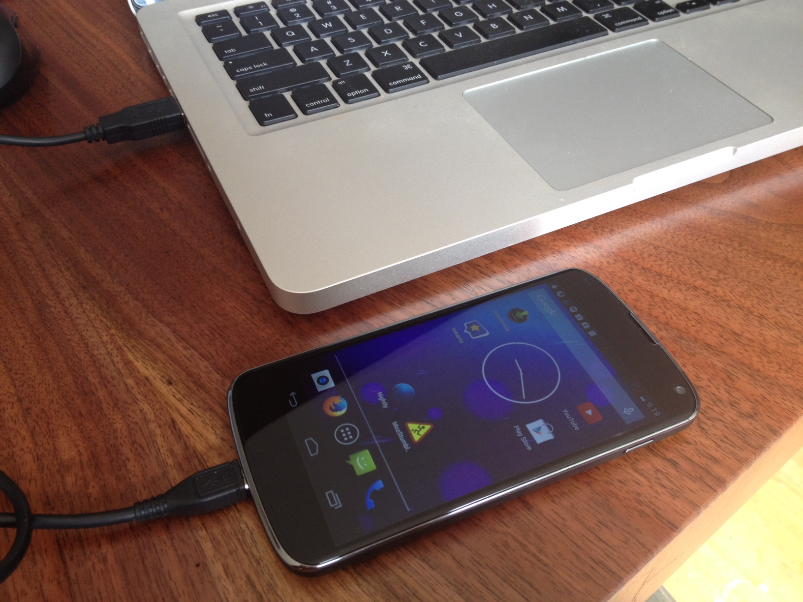 adb using USB