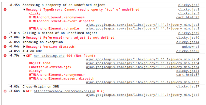 JavaScript Error- and XHR Log Recording With Every Bug Report ...