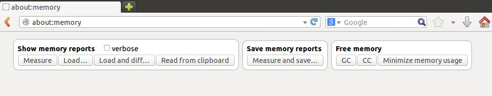about:memory screenshot