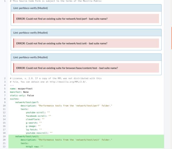 PerfDocs Review Bot Comment