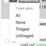 Check alerts menu