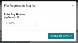 File regression bug modal