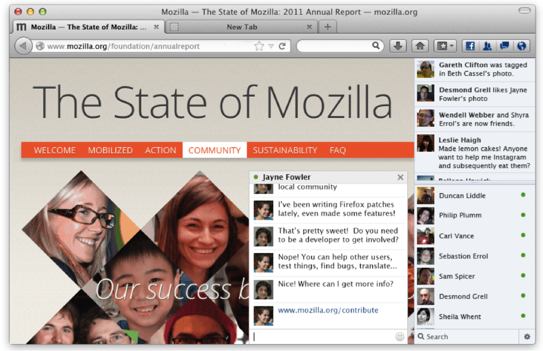 Facebook Messenger for Firefox
