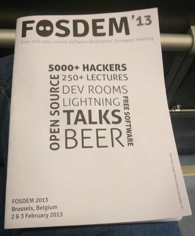 Cover for FOSDEM'13 brochure