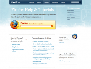 Old Firefox Support Start page