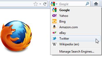 Twitter Search in Firefox