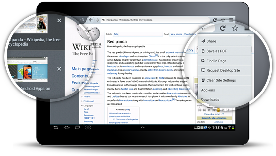 Firefox for Tablets