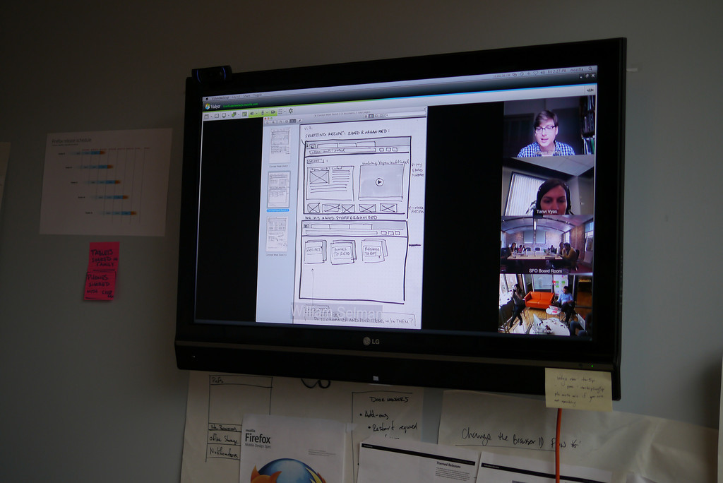Teams share their work via video conference