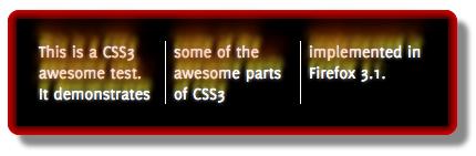 CSS3 example