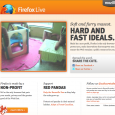 The Firefox Live website returned as a marketing campaign to educate Firefox users about Mozilla's mission to put the greater good of the Web first. The site showed live video...