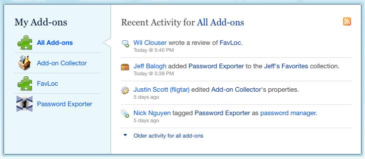 News feed screenshot