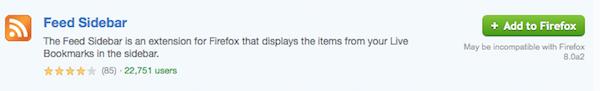 Screenshot of add-on listing