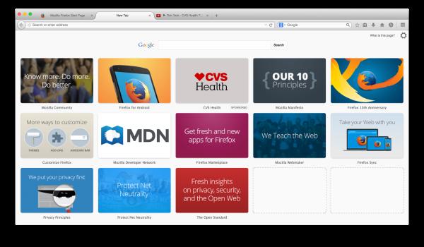 CVS Health Placed in Firefox Tiles