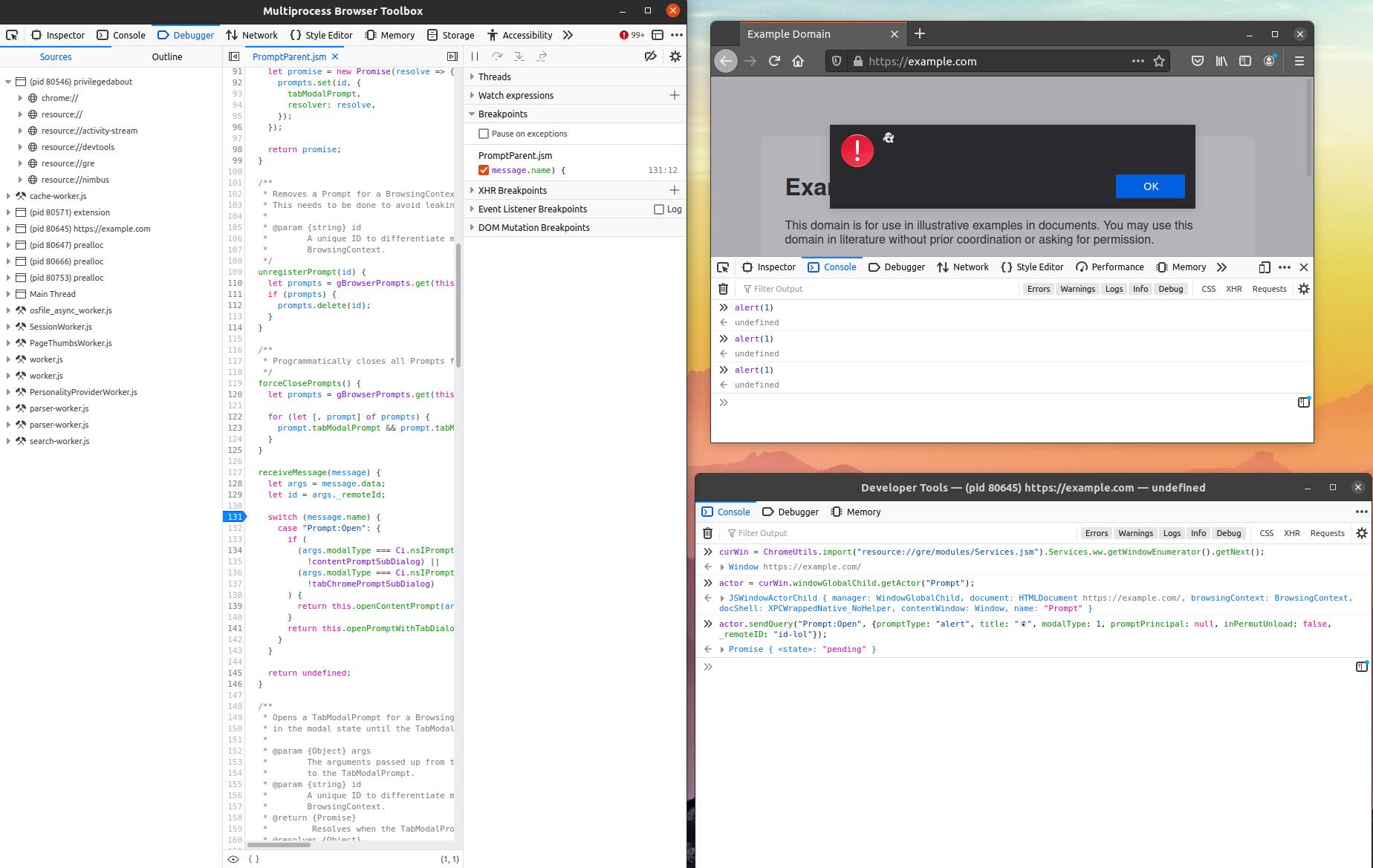 Mozilla Attack & Defense: Examining JavaScript Inter-Process Communication in Firefox