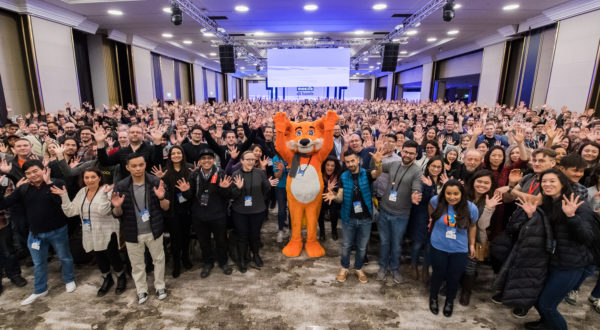 Full Mozilla team picture taken during the Berlin All Hands, January 2020