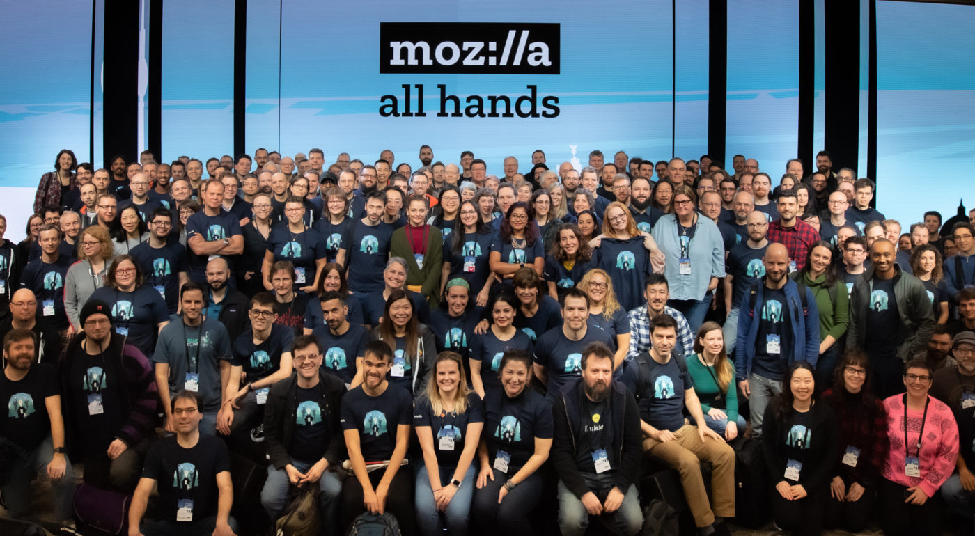 Group photo of Mozilla remotees during the Berlin AllHands in January 2020