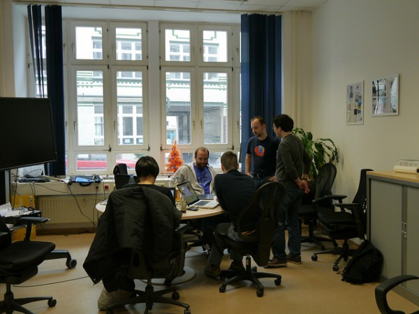 Community members at the April 2014 German doc sprint