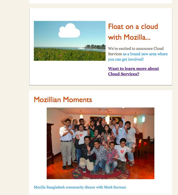 Last story and Mozillian Moments