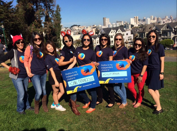 Firefox Ladies at Painted Ladies!