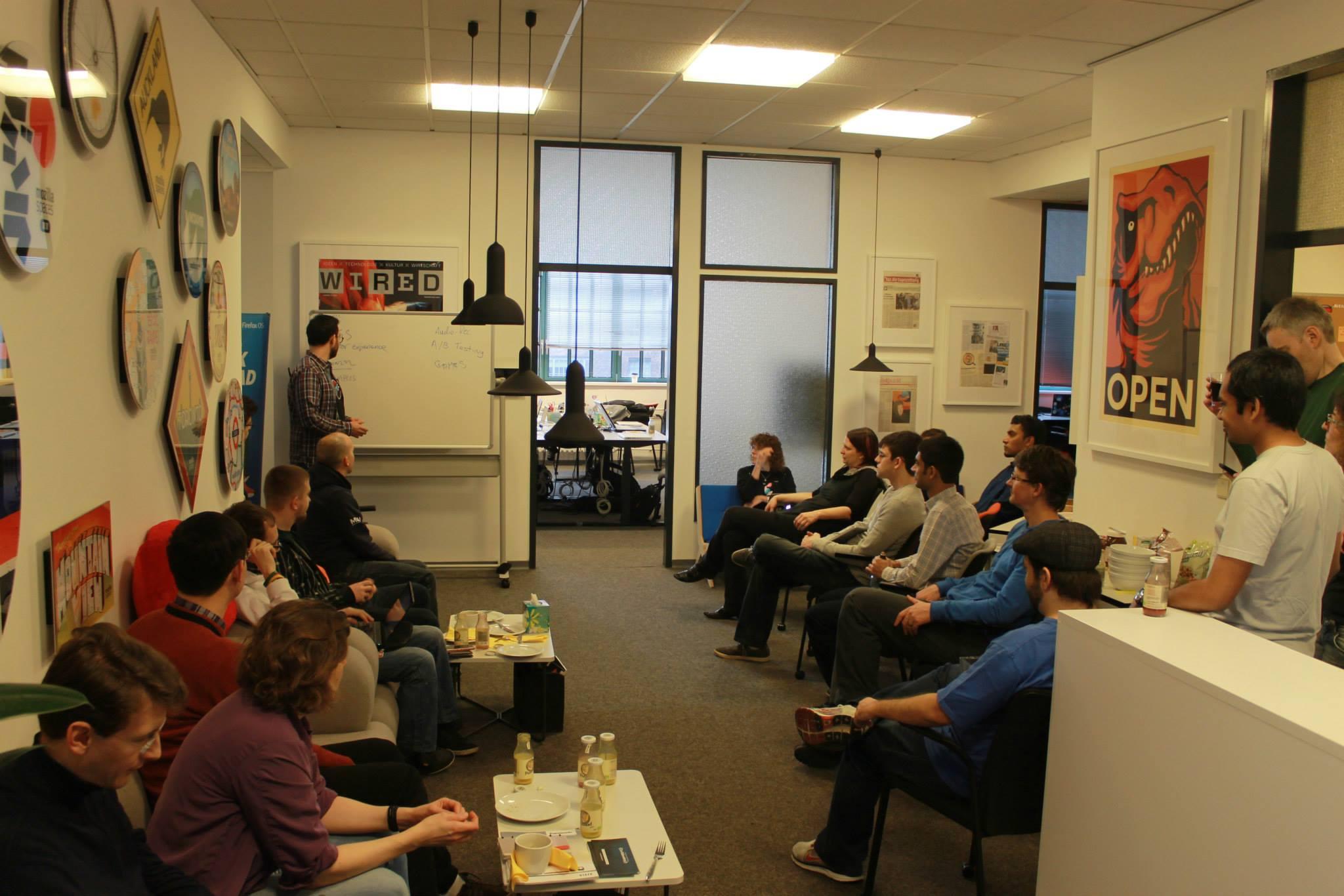 Idea pitches at HackOnMDN weekend, Berlin 2015