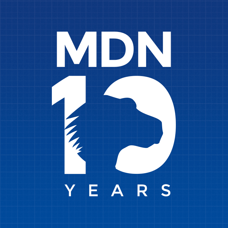 Logo for MDN 10 year anniversary
