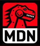 MDN robot dino logo