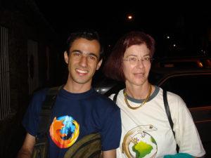Felipe Gomes & Mitchell Baker at FISL 2008