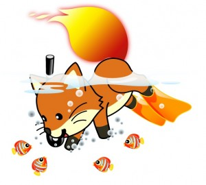Who knew Foxkeh snorkled?