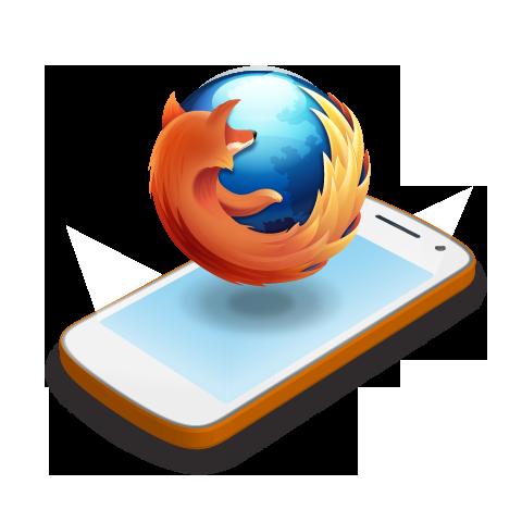 illustration : logo Firefox sur un téléphone mobile