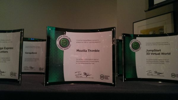 Thimble's Common Sense Media Award
