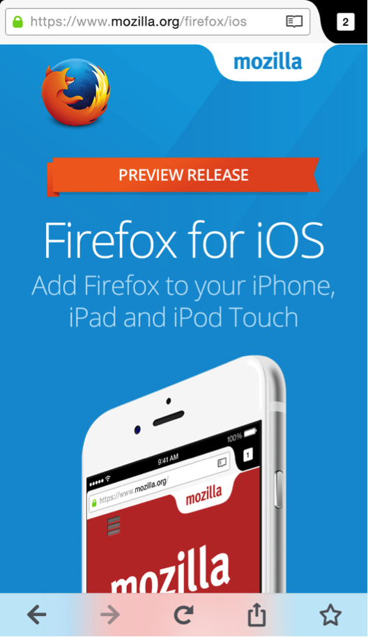 Firefox for iOS Now Available for Preview - Future Releases