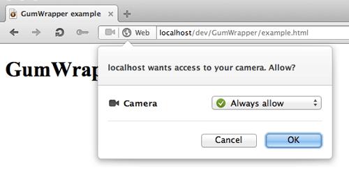 Cross-browser camera capture with getUserMedia/WebRTC