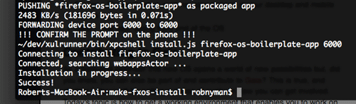 How to install packaged apps in Firefox OS - options and